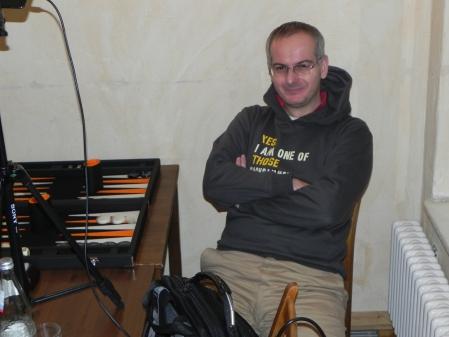 Mit seinem Abschneiden zufrieden, lehnt er sich nach getaner Arbeit zurück: Rodryk