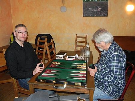 Match mit überraschendem Ausgang - Matthias (li) gegen Gideon