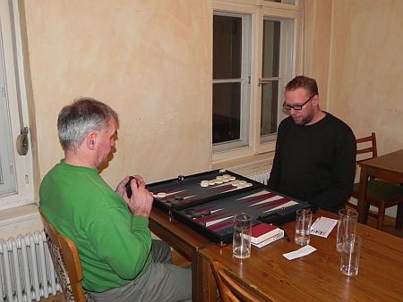 Spiel um den 3. Platz: Gerhard (li) gegen Thorsten