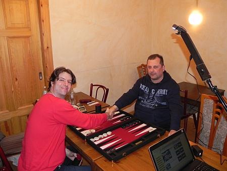 Vor dem Finale: Julian (li) und Vitali. Am Schwenkarm zwischen den beiden: die später verrutschte Kamera