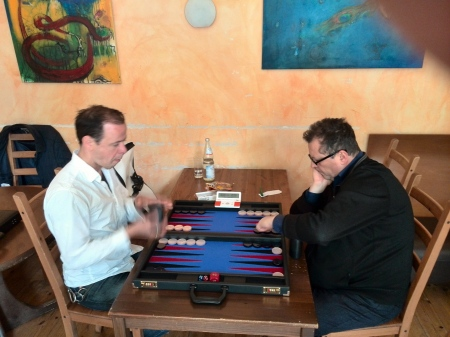 Steffen (li) gegen Vitali, den Pechvogel des heutigen Turniertags