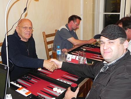 Vor dem Finale: Bernhard-Ludwig (li), Igor B. Im Hintergrund Michael Horchler, der Sieger der Second Chance