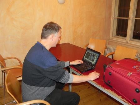 Bei seiner Lieblinsbeschäftigung - Bernhard Kaiser, dieses Mal am Board ohne Erfolg