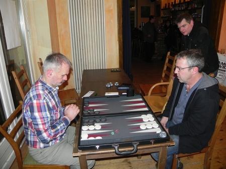 Spiel um den 3. Platz: Gerhard (links) gegen Ralf