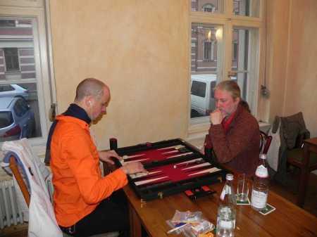 Steffen (li) gegen Thomas Krüger