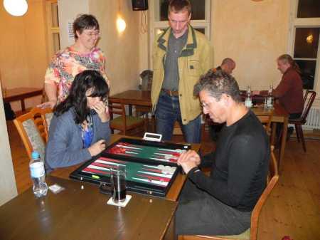 Martin Schwartz, Iris Meumann. Es kiebitzen Kerstin und Lutz
