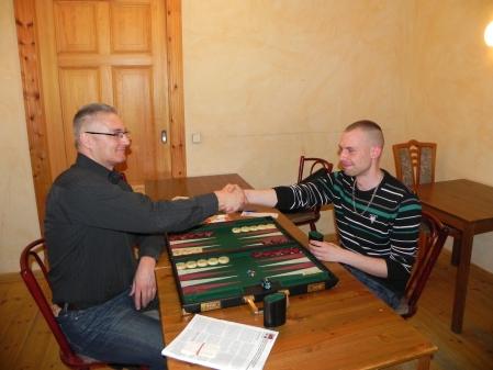 Vor dem kleinen Finale (der Second Chance): Matthias (li), Paul