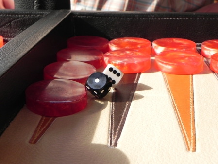 Backgammon-Kuriosum: Doppelbrand
