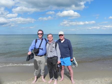 Wo sich Berliner Backgammonfreunde über den Weg laufen: Zufällige Begegnung am Strand von Sopot