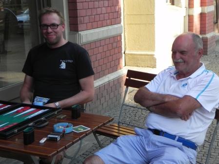 Gute Laune: Thorsten (li), Carlo