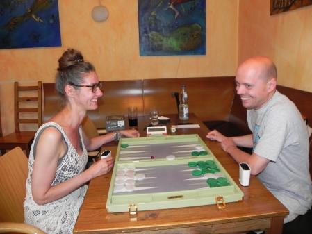 Fröhlich: Denise, zum ersten Mal bei einem Turnier in Berlin, Rolf