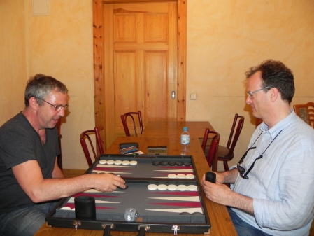 Eifrig: Ralf (li), Dankwart im Spiel um den dritten Platz