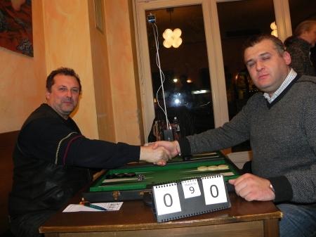 Optimistisch (li) vs. konzentriert: Vitali und Igor B