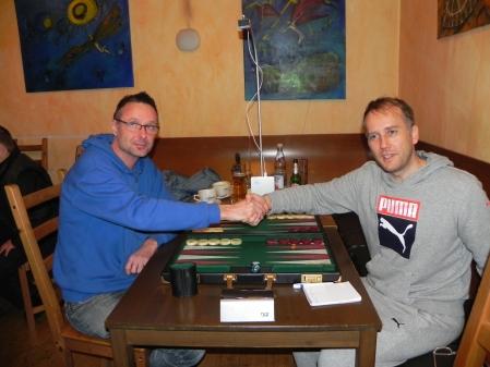 Das Finale der Second Chance beginnt: Michael Horchler (li), Tobias Hellwag