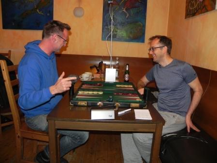 Vorbildlich: Gute Laune beim Finale der Second Chance: Michael Horchler (li), Tobias Hellwag