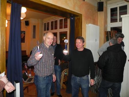 Georg Lachnit-Winter (li) und Stephan Hartmann, Berliner Meister im Beratungsdoppel 2015