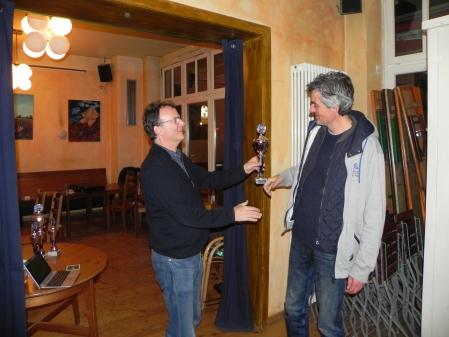 Sieger des größten und wichtigsten Turniers von Berlin Backgammon 2015: Stefan Blancke