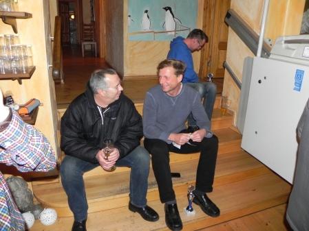Zwei Freunde: Peter und Guido