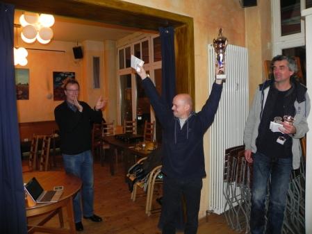 Berliner Backgammon Meister 2015: Rolf Schüler jubelt