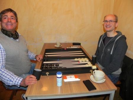 Impressionen aus der Vorrunde: Andreas Kohlschmidt (li) und Carsten Müncheberg haben gute Laune