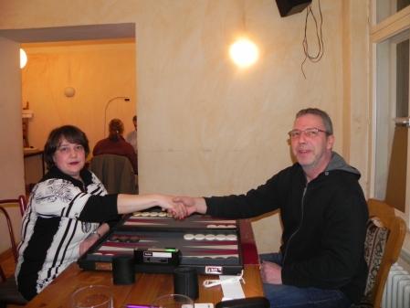 Vor dem kleinen Finale: Alena Dobushyna und Ralf Sudbrak