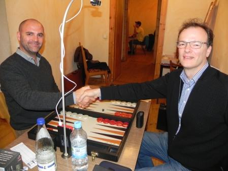 Vor dem Beginn des Finalmatches: Tibor Taylor (li) und Dankwart