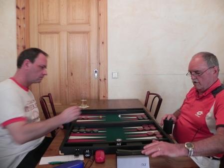 Helmut Krausser (li) gegen Carlo Petkovsek