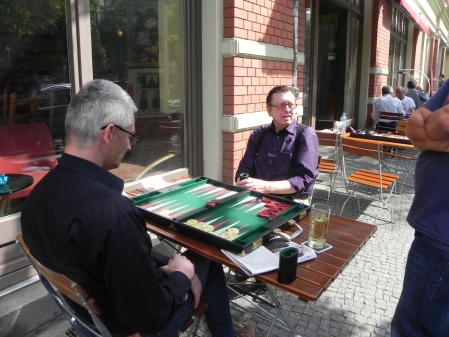 Matthias (li) gegen Dieter Münster