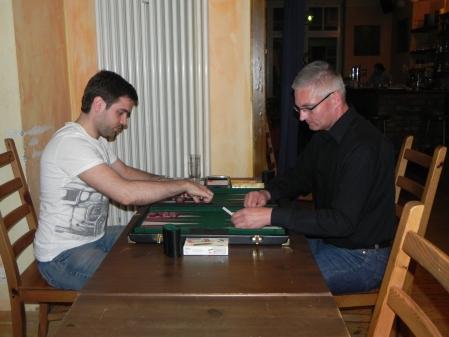 Faruk Kocaer (li) gegen Matthias Strumpf