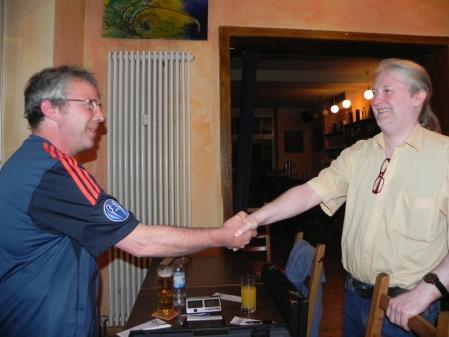 Vor dem großen Finale: Ralf Sudbrak (li) undThomas Krüger im Mai