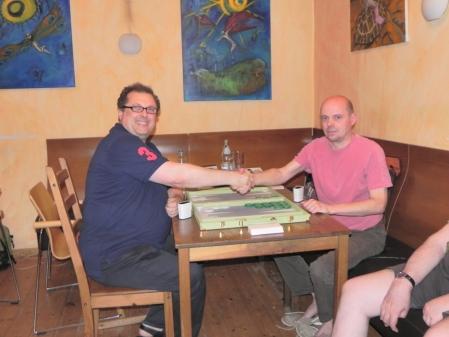 Spiel um den 3. Platz: Vitali Olchanski (li) gegen Rolf Schüler
