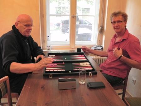 Weltmeister Bernhard (li) gegen Neu-Master Michael Rieder