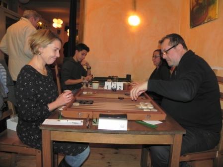 Sabine Brinkmann (li) gegen Vitali Olchanski