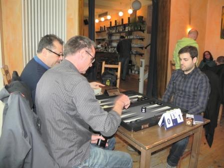 Beratungsdoppel: Vitali und Michael, Faruk im Beratungsdoppel