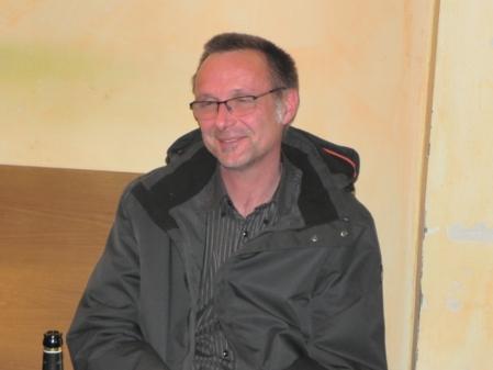 Michael Horchler, ultraentspannt, bei der Siegerehrung