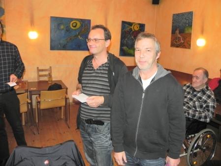 Helmut Krausser und Ralf Sudbrak sind Berliner Vizemeister im Beratungsdoppel