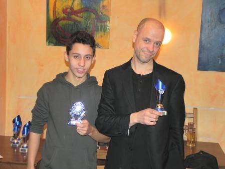 Yonas (li) und Steffen, Vierter und Dritter des Jahresendturniers