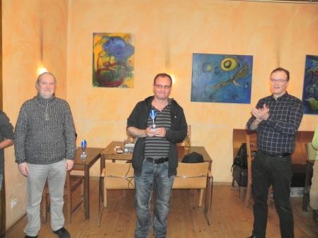 Helmut Krausser, Dritter der Jahreswertung der Berliner Backgammon Meisterschaft 2016