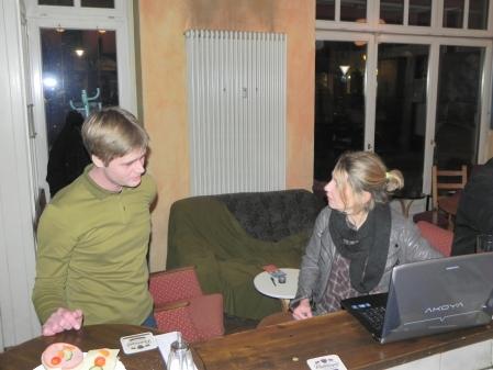 Im Gespräch mit der Turnierleiterin Sabine Brinkmann: Malte Quiter