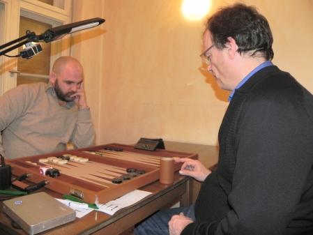 Halbfinale der Second Chance: Tibor Taylor (li) und Dankwart Plattner