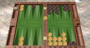 Vitalis vieldiskutierter Recube: Schwarz hat soeben das Doppelfenster erreicht, korrektes Redoppel, korrektes Take.