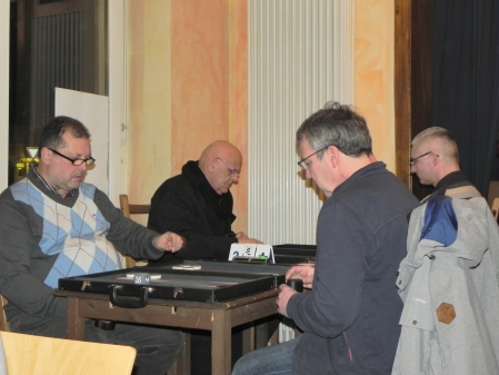 Vitali Olchanski (li) und Ralf Sudbrak, dahinter Bernhard Ludwig Winkelhaus (li) und Matthias Strumpf