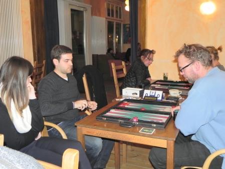 Faruk Kocaer (li) und Thorsten Miesel, Claire kiebitzt