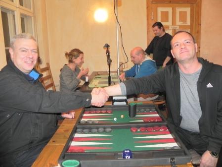 Finale: Helmut Krausser (re) und Alexander Khandin