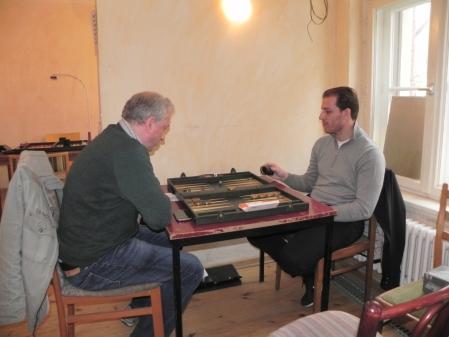Leo Waters (li), nach langer Zeit wieder dabei, und der Erststarter Samuel Danilovitsch