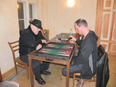 Spiel um Platz 3: Bernhard Ludwig Winkelhaus (li) gegen Helmut Krausser