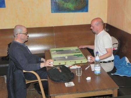 Sergej Kalinitschew (li) und Rolf Schüler