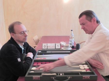 Halbfinale: Heribert Lindner (li), Stephan Hartmann
