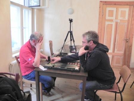 Halbfinale der Second Chance: Leo Waters (li) und Ralf Sudbrak