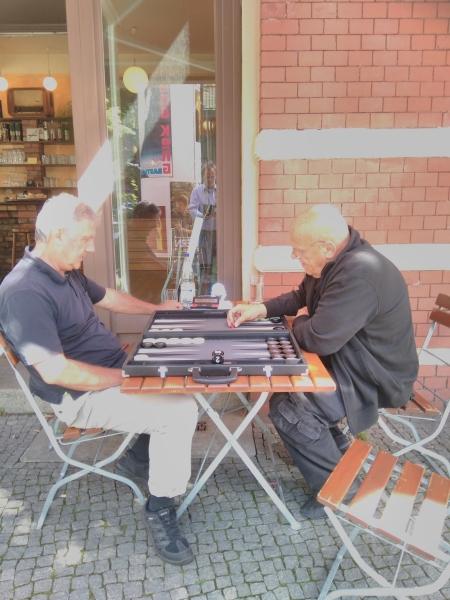 Im Einzel: Sokrates Bukalis (li) und Bernhard Ludwig Winkelhaus